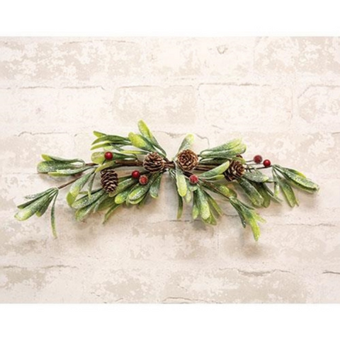 "Merry Mistletoe Faux Botanical 16"" W Swag"