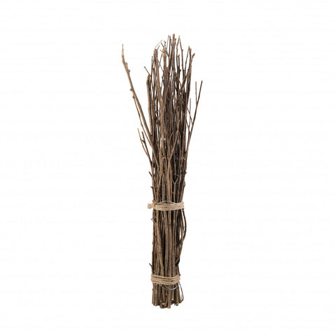 "Natural Twig Bundle 24"" tall - tied with jute rope"