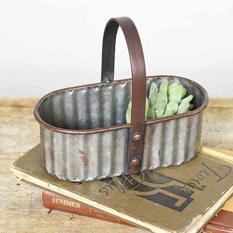 Small Oval Tin Caddy
