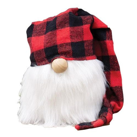 Red & Black Buffalo Plaid Cap Gnome