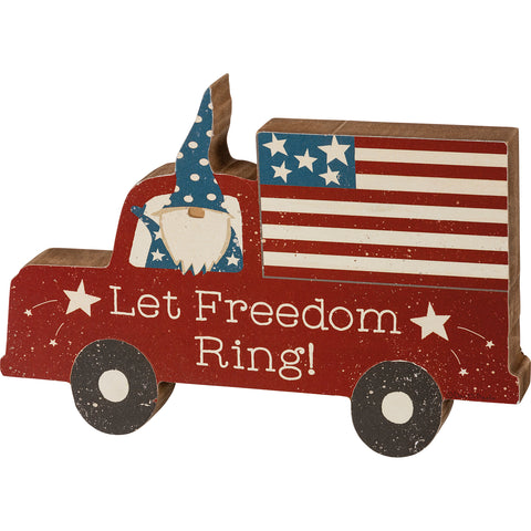 Let Freedom Ring Gnome Chunky Shelf Sitter