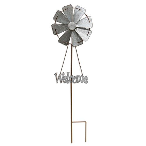 Welcome Windmill Yard Stake