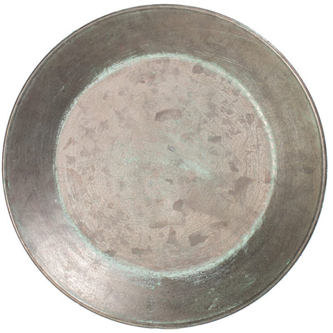 "Galvanized Tin 6"" Plate"