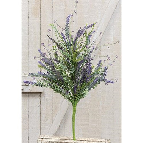 "Lavender and Eucalyptus 24"" Faux Bush"