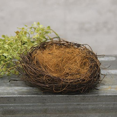 "Natural Twig and Sisal 6"" Nest"