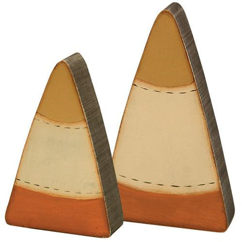 Set of Two Candy Corn Sitters