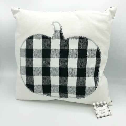 Buffalo Plaid Pumpkin Decorative Pillow