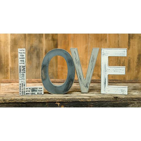 "LOVE Grey Tone Free Standing 8"" H Letters"