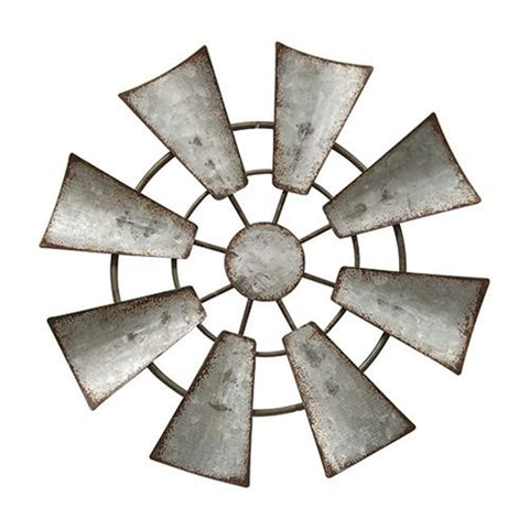 "Small Galvanized Metal Hanging 6.5"" Windmill"