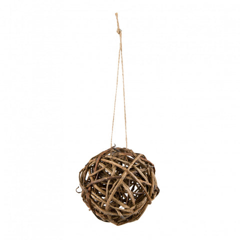 "Natural Woven Vine 4"" Decorative Ball"