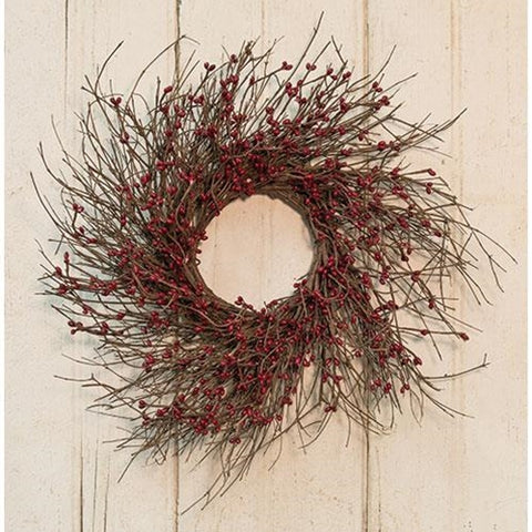 "Burgundy Pip Twig 16"" Wreath"
