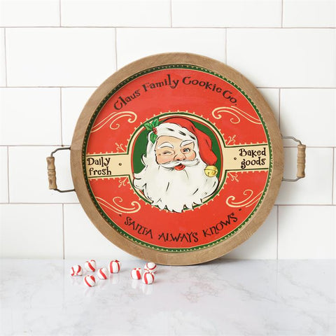 Claus Family Cookie Company Round Tray
