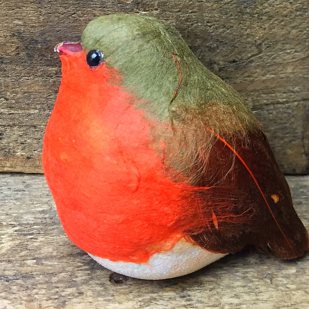 Chubby Red and Brown Bird - foam feather craft bird
