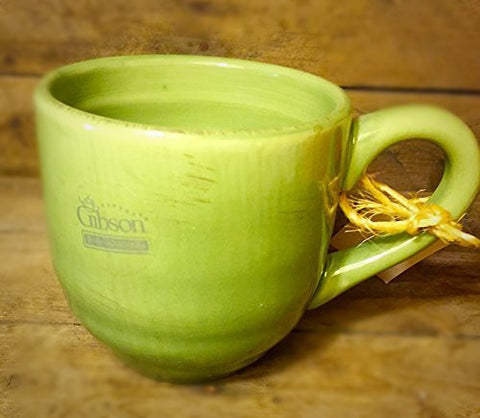 Gibson Shades of Olive Mug 19 Oz Earthenware