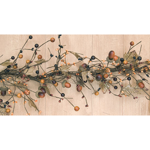 Country Mix with Acorns 4 ft Faux Garland