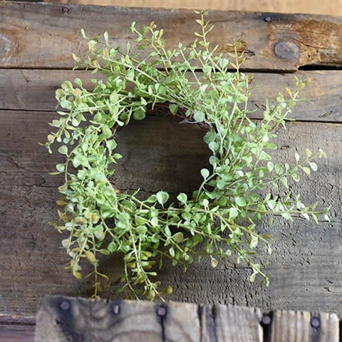 "Baby Greens 8"" Small Wreath / Candle Ring"