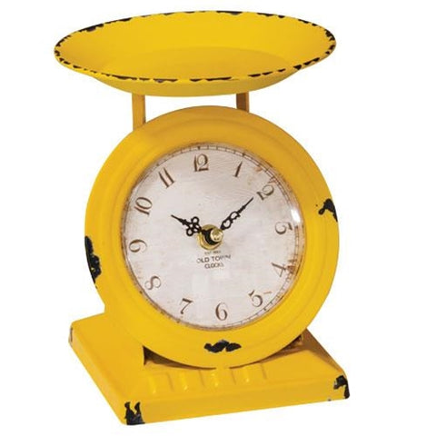 Sunflower Yellow Old Town Scale Clock