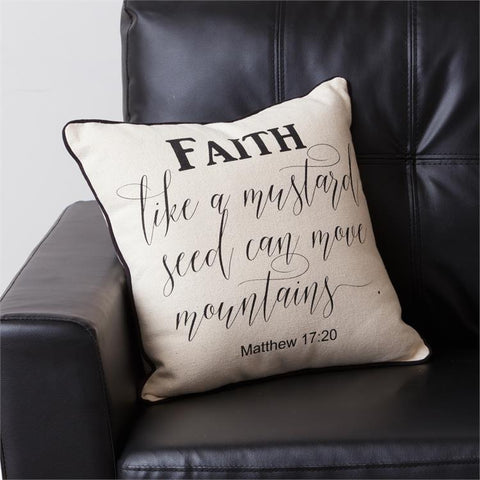 Faith Like a Mustard Seed Can Move Mountains, Matthews 17:20 Pillow