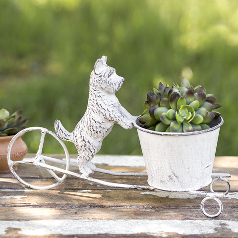 Adorable Scottie Dog Cart Planter
