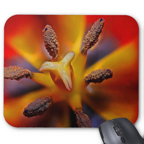 Floral Photo Mousepad - Tulip Close-up - Mouse Pad