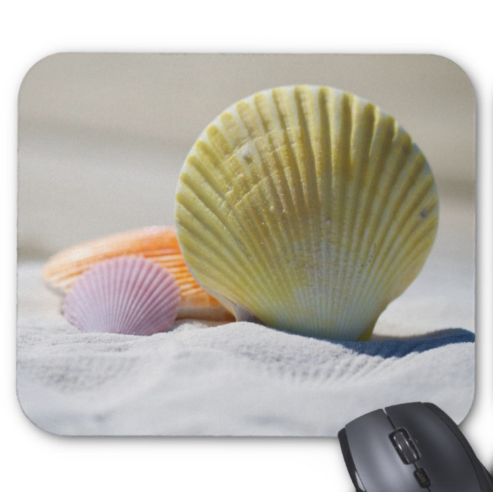 Beach Mousepad - Colorful Sea Shells - Mouse Pad