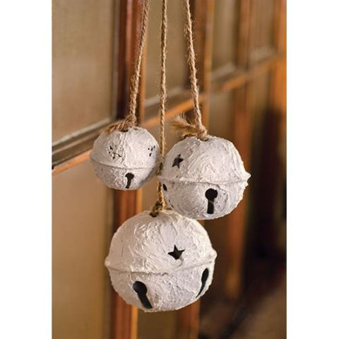 Trio Cluster White Bells Ornament