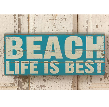 Beach Life Is Best Distressed Box Sign