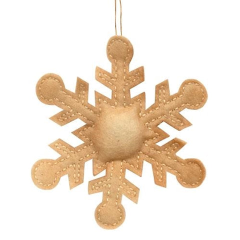 Antiqued Snowflake Ornament
