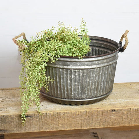 Large Garden Galvanized Tub