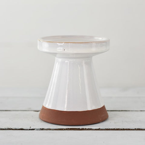 "Sedona Pillar Ceramic Candle 5"" Stand"