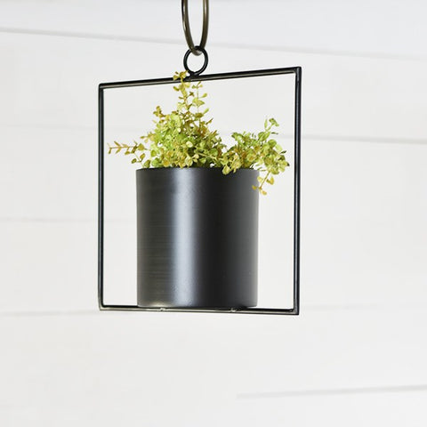 Geometric Hanging Can Planter