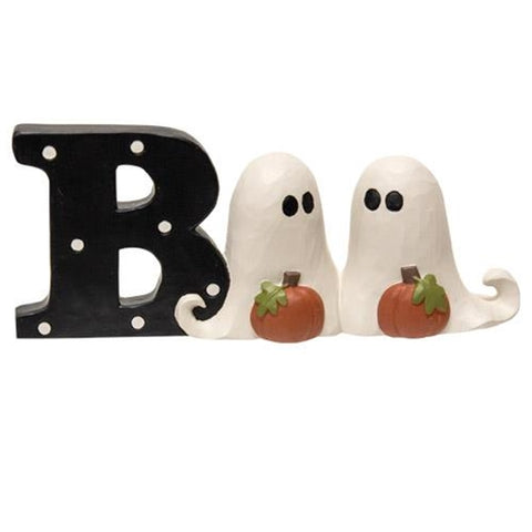Boo With Ghosts Little Resin Shelf Sitter