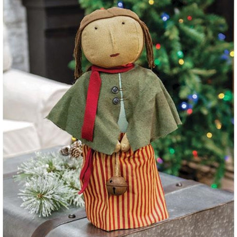 Primitive Christmas Caroler Fabric Doll