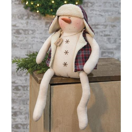 Willard the Snowman Large Winter Dressed Plush Doll