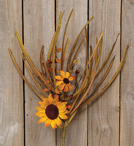 Grassy Warm Sunflower Bunch Spray