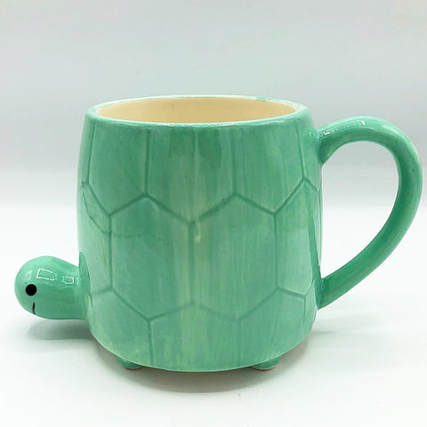 Aqua Turtle Mug Planter Sheffield Home