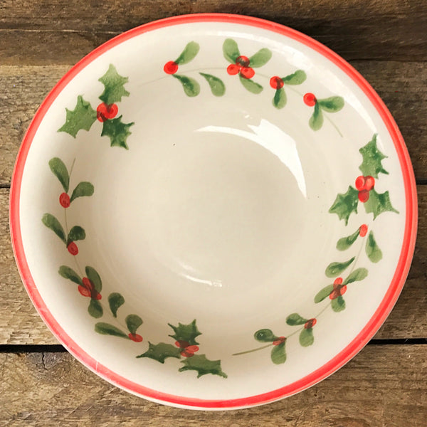 "Tabletop Gallery ""Holly"" Cereal Bowl - holly & mistletoe"