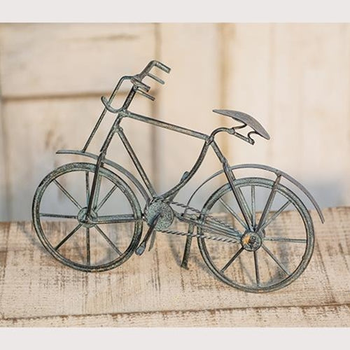 Patina Finished Metal Bicycle Tabletop Art