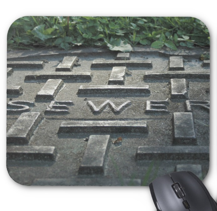 Industrial Photo Mousepad - Sewer Lid - Mouse Pad