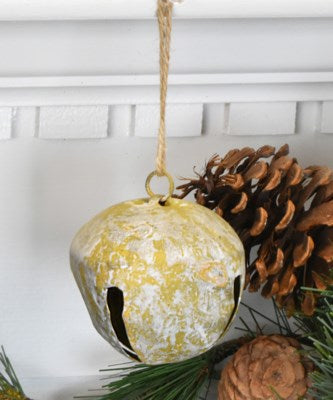Vintage-style Large Jingle Bell with Jute Hanger