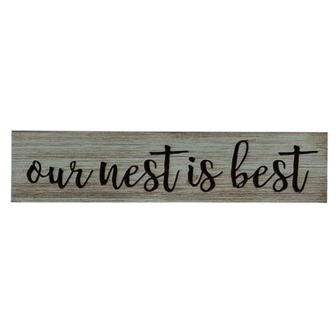 "Our Nest is Best Engraved 24"" Wooden Sign"