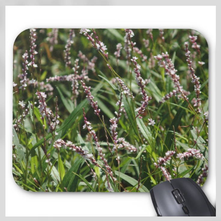 Flowers Mousepad - Pink Wildflowers - Mouse Pad