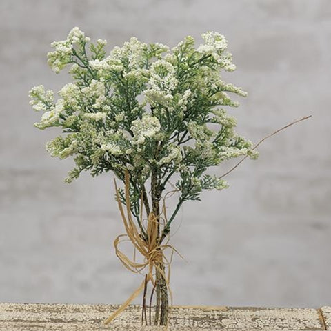 "Creamy Baby's Breath 12"" Faux Floral Spray"