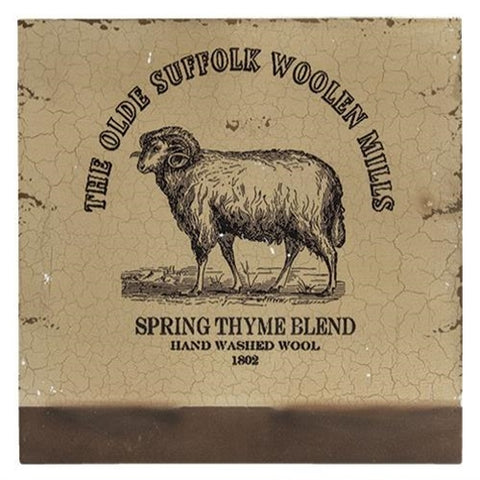 Olde Suffolk Woolen Mills Sheep Plaque