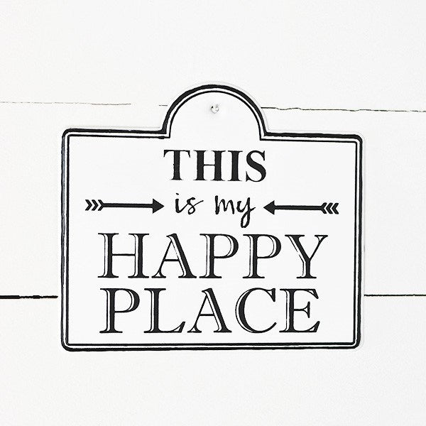 This is My Happy Place Metal Sign