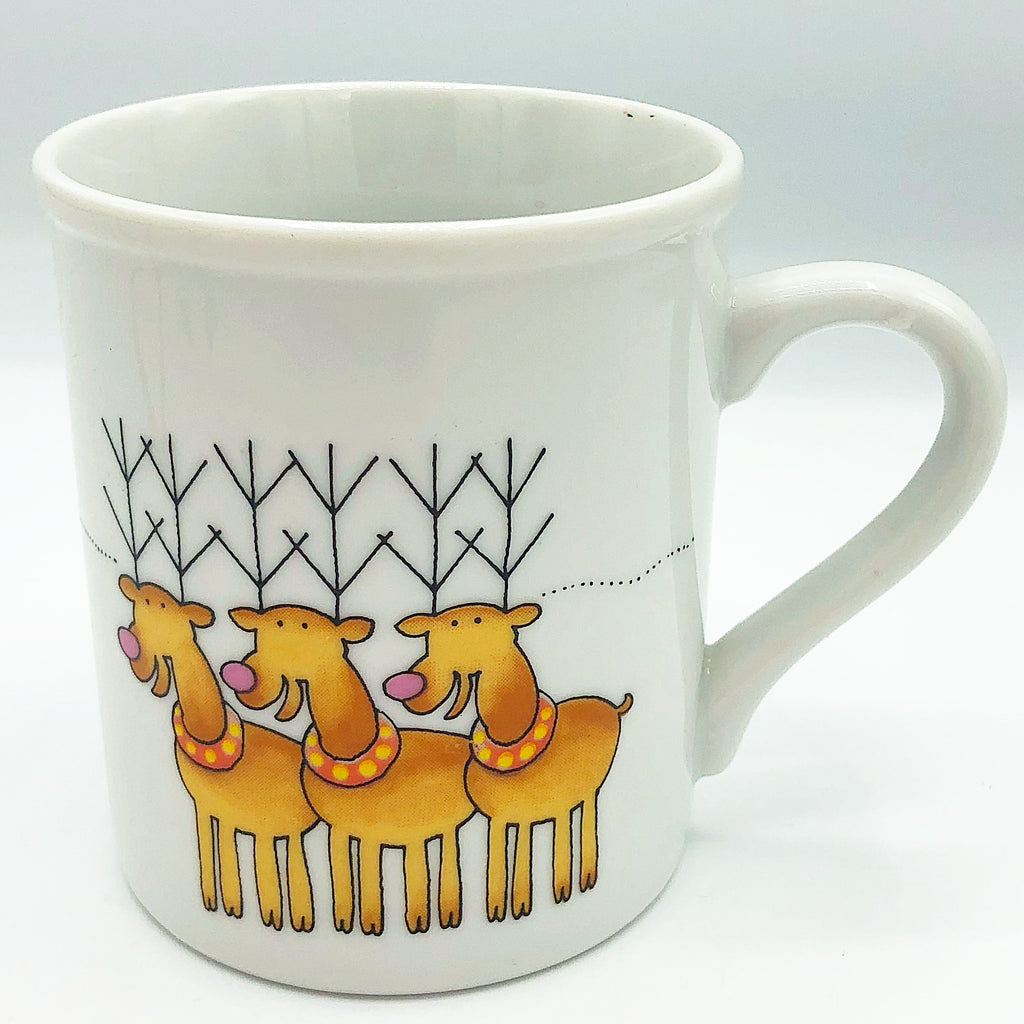 Christmas Reindeer & Bunny Mug The Toscany Collection