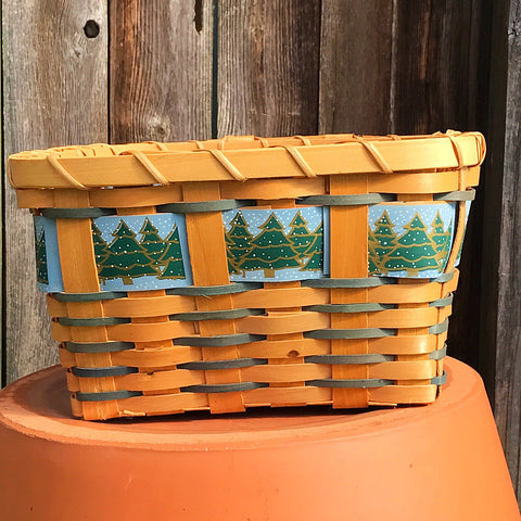 Winter Evergreens Square Basket