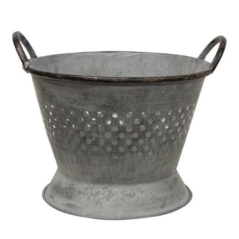 Weathered Decorative Tin Colander