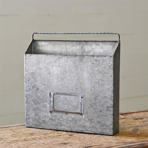 Industrial Galvanized Metal Wall Organizer