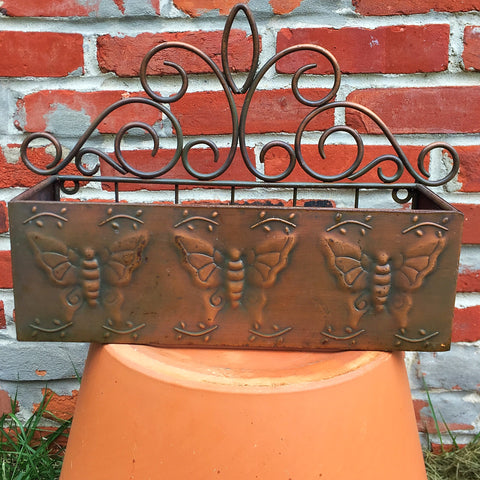 Rustic Brown Butterfly Tray - sit on surface or hang